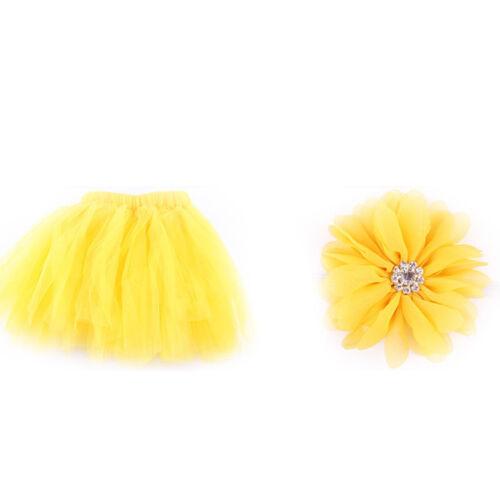 Newborn Baby Kid Girl Flower Headband+Tutu Skirt Photography Costume Prop Lovely