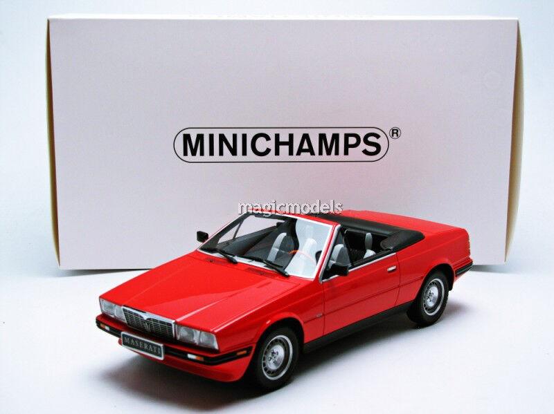 Biturbo minichamps 1986 maserati rot in 1   18 - skala.
