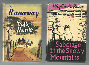 SABOTAGE-IN-THE-SNOWY-MOUNTAINS-by-Power-THE-RUNAWAY-by-Morris-2-Bks-Child-Lit