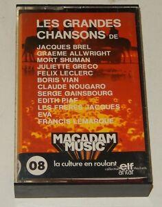 Cassette-Audio-Les-GRANDS-CHANSONS-BREL-GRECO-GAINSBOURG-PIAF-ELF-ANTAR