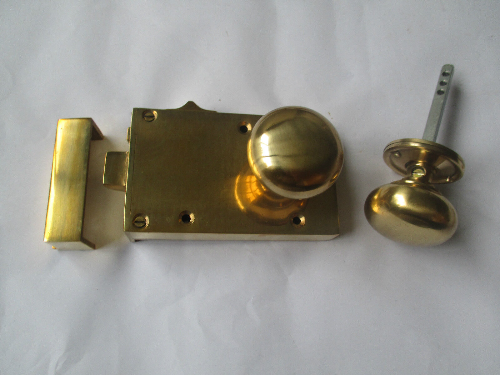 Schwer massives Messing Vintage alt georgianisch Stil Rand Tür Tür Tür Riegel Schloss c8dcf3