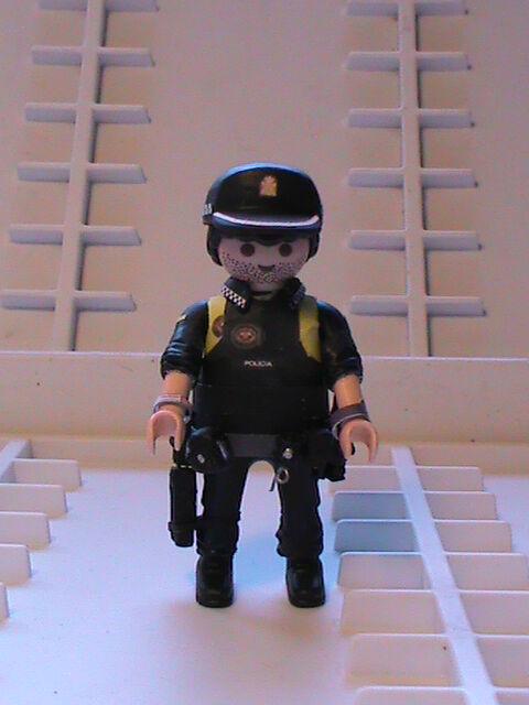Ornjmx1185 Personnalisé Réf Bis Playmobil Policier 0001 National 0OP8knw