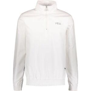 40df3cb996479 FILA Men's LUCCA White Quarter Zip Funnel Top / Jumper - size Large ...