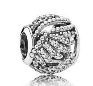 09f63ff0c Image is loading Genuine-PANDORA-Majestic-Feathers-silver-and-cubic-zirconia -