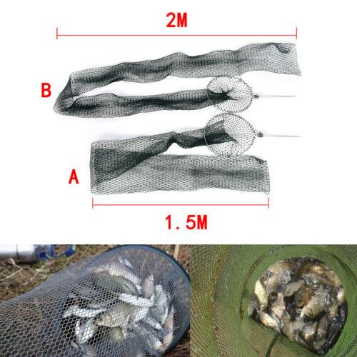 Fishing Net Trap Fishing Mesh  Folding fish Bag Small Fishing Tackle Mesh Bag SK