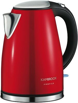 NEW Kambrook Exclusive Profile Red Kettle 2200W 1.7 Litre KSK210F