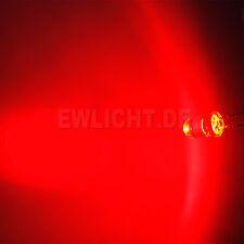 10 LEDs 5mm Rote 10000 - 14000mcd LED Rot Red + Widerstände 5V 6V 9V 12V 14V 24V