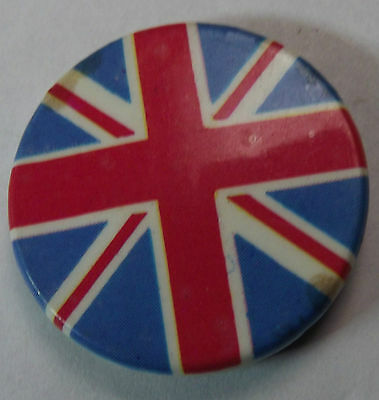 UNION JACK GB UK Britain Vtg 70`s/80`s Button Badge/Pin 32mm#mod104