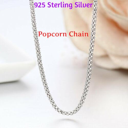 "18/"" Argent Sterling Collier Brillant Diamond Cut italien Corde Chaîne Pure 925 Italie"