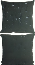"""Pillow Sunbrella BLACK Indoor outdoor 20""""x 20"""" Polly filled waterproof UV Proof"""