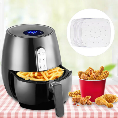 """100Pcs Non-stick Steamer Mat Baking Cooking Steaming Square Air Fryer Paper 6.5/"""""""