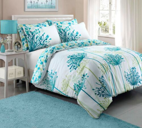 Duvet Cover sets Meadow Teal Luxury Bedding sets Single Double /& King sizes