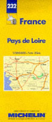Michelin Pays de Loire, France Map No. 232 (Michelin Maps & Atlases)