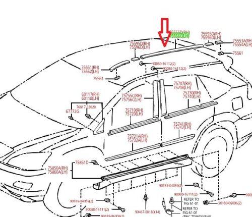 LEXUS OEM FACTORY ROOF DRIP MOULDING 2004-2009 RX330 RX350