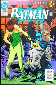 BATMAN-495-NM-KNIGHTFALL-Part-7-THE-JOKER-POISON-IVY-SCARECROW-BANE-DC-1993