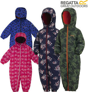 24f548de3 REGATTA SPLAT WATERPROOF PADDED FLEECE LINED ALL IN ONE SNOW SUIT ...