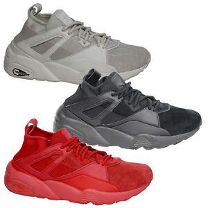 Puma BOG Sock Core Mens Lace Up Black White Red Trainers 362038  cbbeb2a30