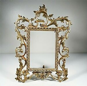 ANTIQUE-SOLID-BRASS-FRAME-ORNATE-VICTORIAN-STYLE