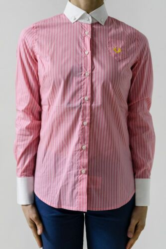Donna Col Fred Varie Perry Camicia Tag Rosa qzRFTx