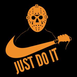 1108187f Michael Myers Shirts Just Do It Halloween Horror Movie Black T-Shirt T- Shirts