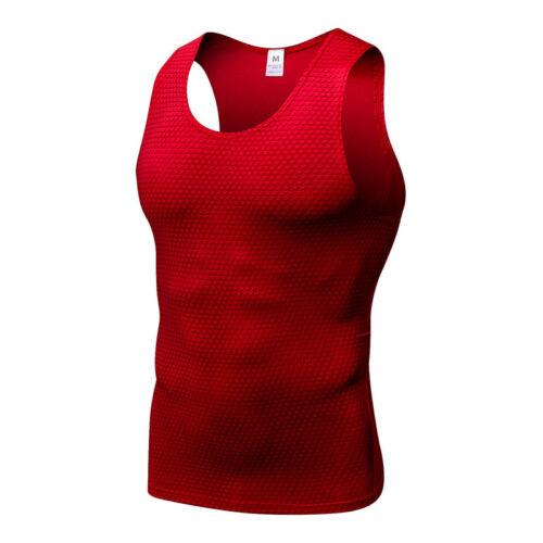 Men/'s Compression Top Running Basket Gym Entraînement Tank Top Dri Fit Spandex