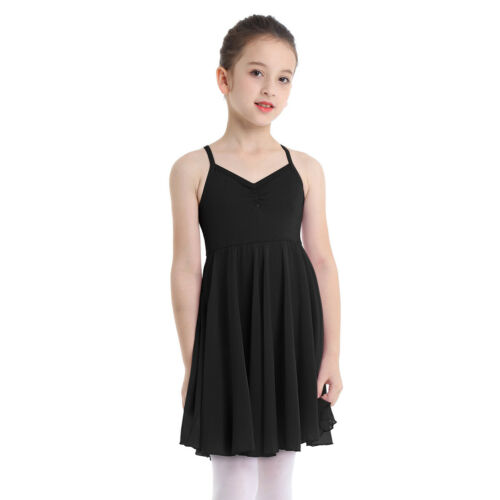 Girls Gymnastics Leotard Ballet Dance Dress Chiffon Tutu Skirt Dancewear Costume