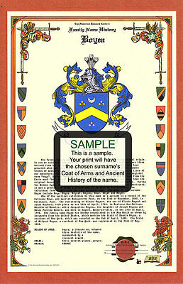 D's CELEBRATION Armorial Name History Coat of Arms Family Crest 11x17  CUSTOM HRC | eBay