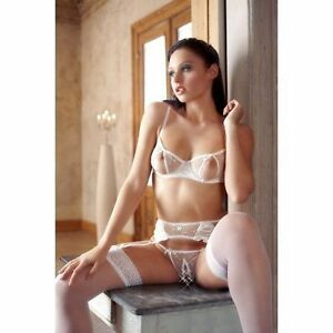 0be9a8795f Set Intimo White With Trasparenze Cottelli Collection Underwear Bra ...