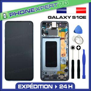 VITRE TACTILE ECRAN LCD ORIGINAL SUR CHASSIS SAMSUNG GALAXY S10e NOIR G970