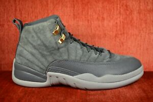 7720944637f CLEAN Nike Air Jordan 12 Retro Dark Grey Wolf Gray 130690-005 Size ...