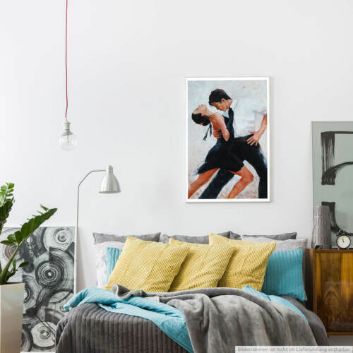 Digitales Bild 60x90cm Poster  Tangotänzer mit weißem Hintergrund