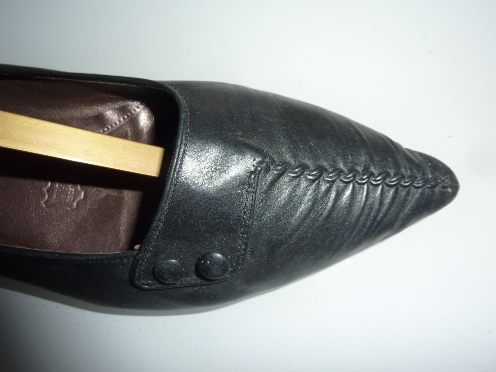 Schuhe wie NEU GR. 41 42 8 GABOR schwarz Leder Damenschuhe Balerina NEU