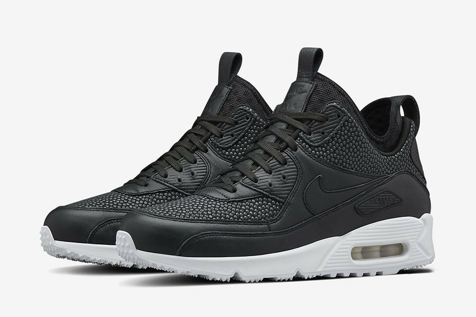 Mens Nike Air Max 90 Sneakerboots Tech Sneakers Boots New, Black 728741-002 AA