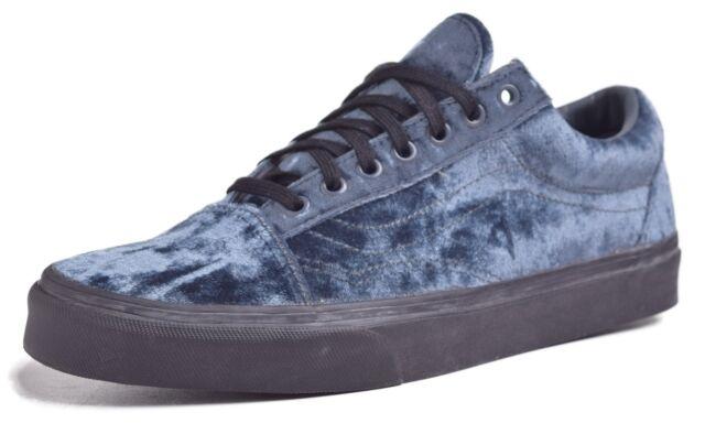 Buy VANS Old Skool Velvet Gray black Women s Skate Shoes Size 10 ... 58744b85c