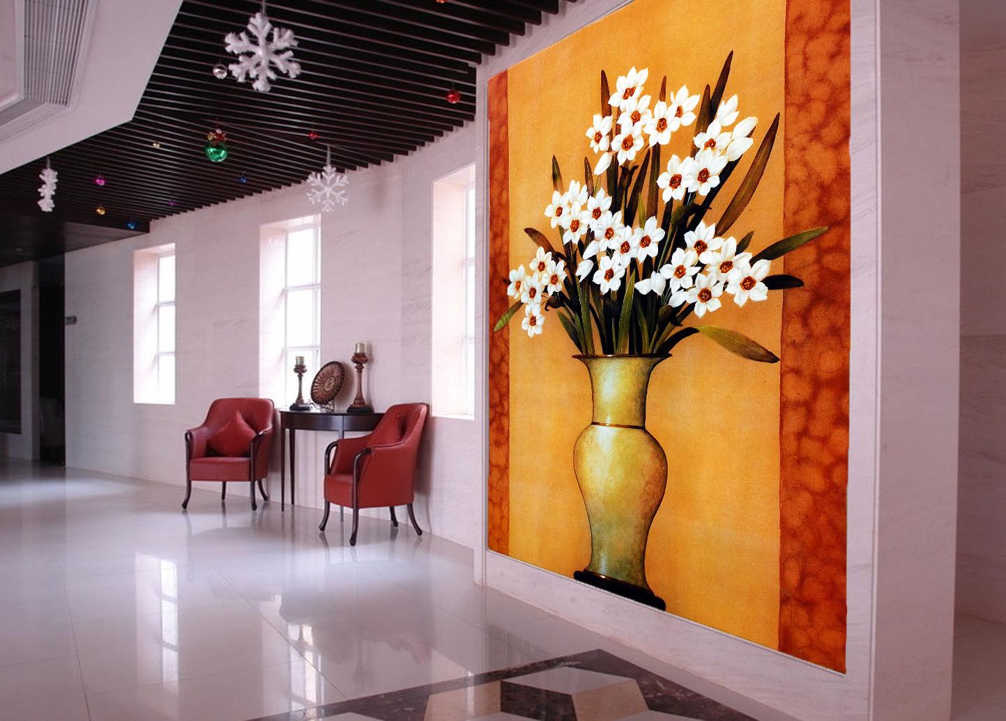 3D Europäische Stil Vase 73 Tapete Wandgemälde Tapete Tapeten Bild Familie DE