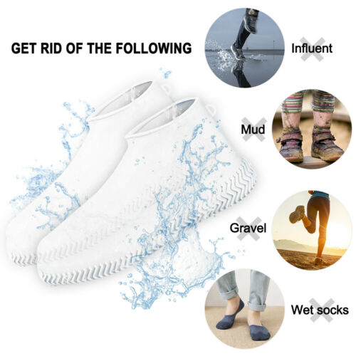 Silicone Overshoes Rain Waterproof Shoe Boot Cover Protector Recyclable M//L