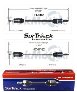 SurTrack Pair Set of 2 Rear CV Axle Shafts For Honda Element 4WD 2003-2011