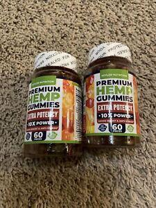 2x Hemp***Premium Gummies 1,000,000MG 60pcs Stress Insomnia Pain Anxiety Relief