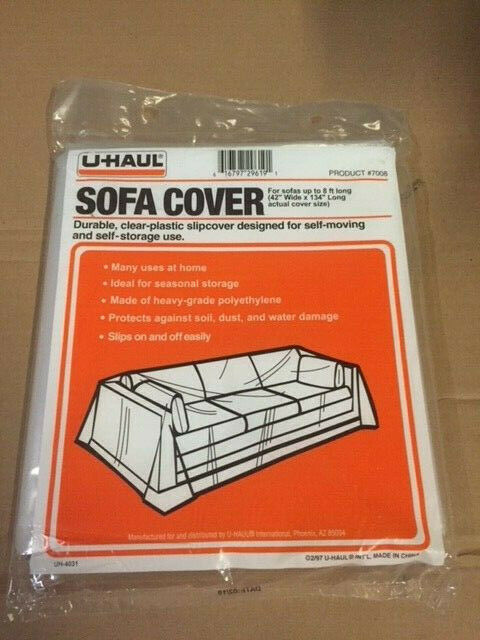 Surprising U Haul 7008 Sofa Cover For Moving Storage Clear Plastic 42 X 134 Pdpeps Interior Chair Design Pdpepsorg