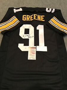 8d72dca48e0 Image is loading KEVIN-GREENE-AUTOGRAPHED-SIGNED-INSCRIBED-PITTSBURGH- STEELERS-JERSEY-