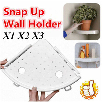 Bathroom Triangular Shower Shelf Corner Bath Storage Holder Organizer Rack LOT