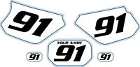 1991-2003 Yamaha Dtr 125 Pre-printed White Backgrounds With Blue Pinstripe