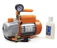 Bacoeng 3 Cfm 1 Stage Vacuum Pump Hvac With Vacuum Gauge, Us Stock