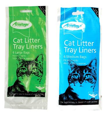 Armitage Pet Cat Kitten Pet Litter Tray Liners Medium Or Large Pack Of 6 Bags Een Lang Historisch Aanzien Hebben