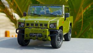1 18 Beijing Jeep original manufacturer,Green Beijing jeep warrior car model