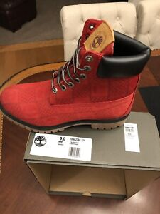 """Timberland """"RED PATCH"""" Premium 6in Fabric Waterproof Boots. Limited Edition Sz 9"""