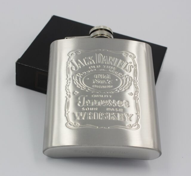 New Portable Stainless Steel Hip Flask 7oz JD Flagon Wine Bottle for Mens Gift