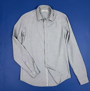 Aglini-shirt-camicia-uomo-slim-usato-used-S-39-top-luxury-manica-lunga-T5463