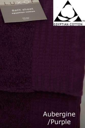 100/% pur coton égyptien serviette 650gsm Rouge aubergine bain Jumbo paire feuille