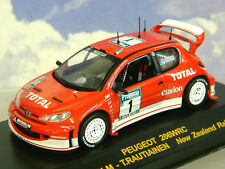 DIECAST 1/43 TOTAL PEUGEOT 206 WRC #1 WINNER NEW ZEALAND RALLY 2003 M.GRONHOLM